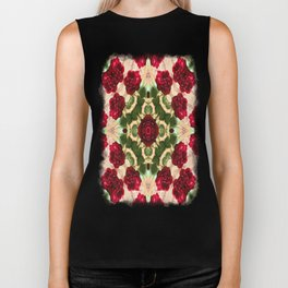Old Red Rose Kaleidoscope 6 Biker Tank