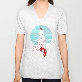 Moonrise Geisha Unisex V-Neck