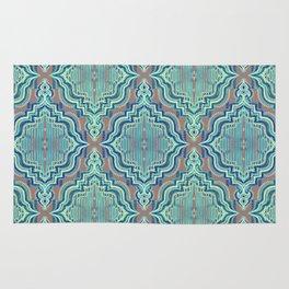 Marker Moroccan in Aqua, Cobalt Blue, Taupe & Teal Rug