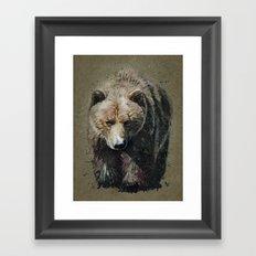Bear background Framed Art Print