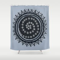 ethnic Shower Curtains featuring Ethnic by Iris López