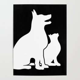 Dog and Cat BFFs Poster