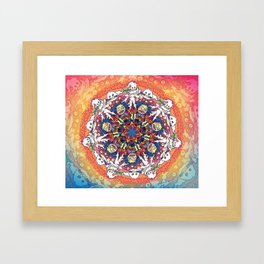 Kids See Ghosts Mandala Framed Art Print