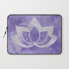 Lotus Flower on Purple Laptop Sleeve
