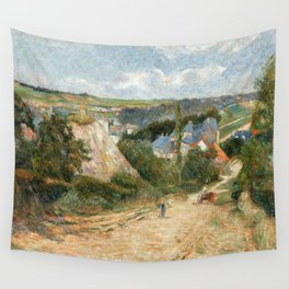 1882 - Gauguin -  Entrance to the Village of Osny Wall Tapestry