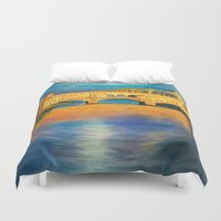 florence Duvet Covers featuring Florence by Sara Clarke