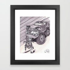 Truck of Doom Framed Art Print