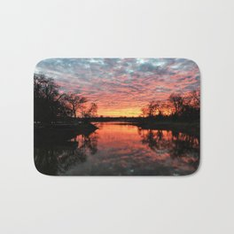 Sunset Over Lake-II Bath Mat