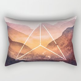 The Elements Geometric Nature Element of Fire Rectangular Pillow