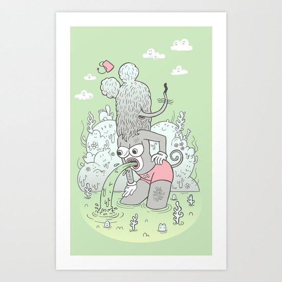 knee deep Art Print