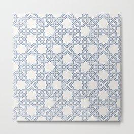 TESSELLATE BLUE Metal Print