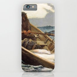 Winslow Homer1 - The Fog Warning, Halibut Fishing - Digital Remastered Edition iPhone Case