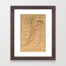 Map of Utah 1871 Framed Art Print