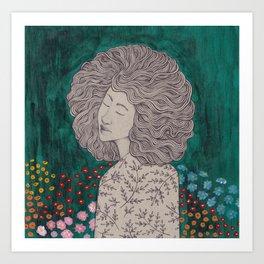 In the garden of my dreams Art Print
