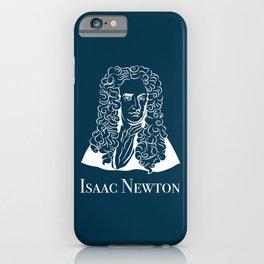 Illustration of Isaac Newton iPhone Case