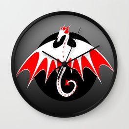 Dragon Logo 1 Wall Clock
