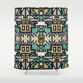 Ethnic african geometric pattern Shower Curtain