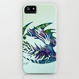 Siamese fighting fish themed artwork iPhone Case