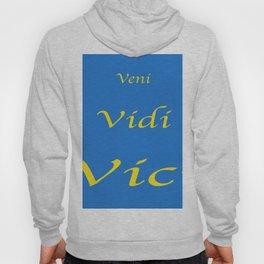 Veni Vidi Vici Blue and Gold Hoody