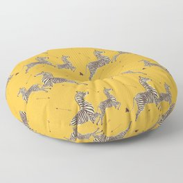 Royal Tenenbaums Zebra Wallpaper - Mustard Yellow Floor Pillow