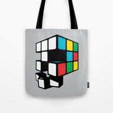 Rubix Skull Tote Bag