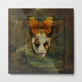 Surrealistic Venetian Mask Metal Print