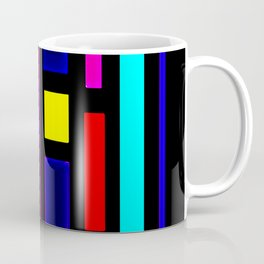 Color Square Block Graphic Design Coffee Mug
