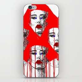 Red people iPhone Skin
