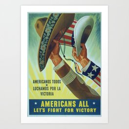 World War Two US Propaganda Poster Art Print
