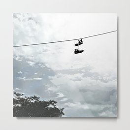 Chucks on a Wire Metal Print