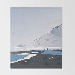 Vik Reynisfjara Black Sand Beach, Iceland Throw Blanket