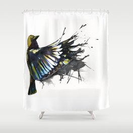 Back Winging Shower Curtain