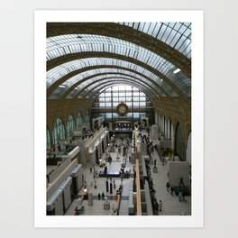 Train Station, Paris 2008 Art Print