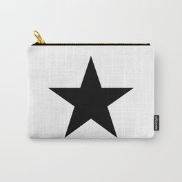 Single black star on white Carry-All Pouch