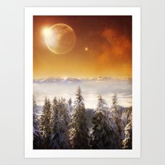 Golden Eclipse Art Print