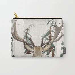 Deer in the Winter Forest Carry-All Pouch