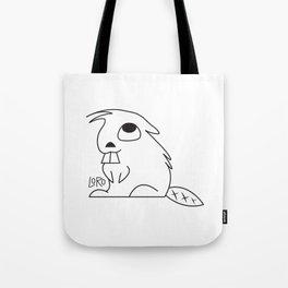 Curious Beaver Tote Bag