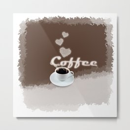 Coffee Love Metal Print