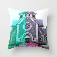 Cracked church... Throw Pillow