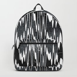 Monochrome Marble Chevron Waves Backpack