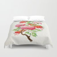 goldfish Duvet Covers featuring goldfish by Manoou