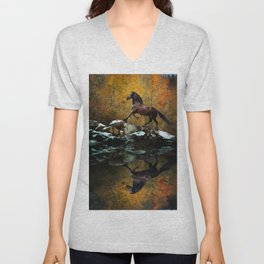 Reflections of Fall Unisex V-Neck