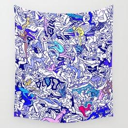 Kamasutra LOVE - Indigo Blue Wall Tapestry
