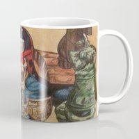 law Mugs featuring I AM THE LAW by DeMoose_Art