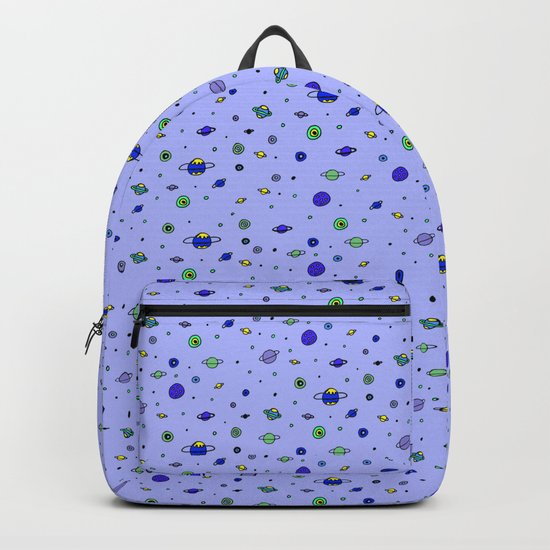 indigo Space with Blue Planets Backpack