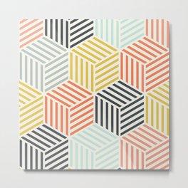 Colorful Geometric Pattern Metal Print