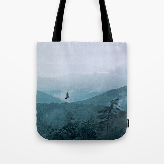 Blue smoky mountains Tote Bag