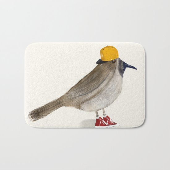 little brown creeper Bath Mat