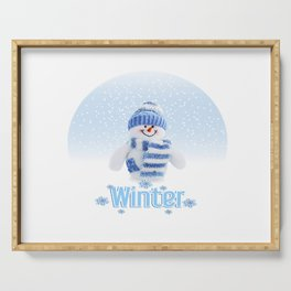 Cuter winter snowman Serving Tray