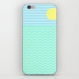 Coastline (Sunrise Blue) iPhone Skin